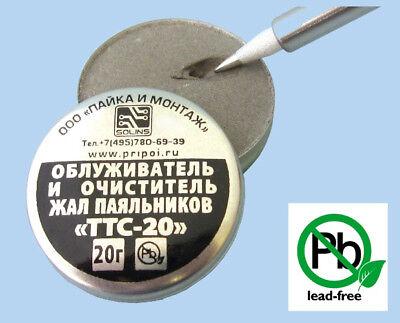 Solins Ttc-20 Solder Tip Tinner Cleaner Tip Refresher Tip Activator Lead Free