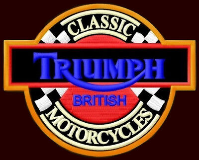 """TRIUMPH EMBROIDERED PATCH ~4-1/2""""x 3-1/2"""" MOTORCYCLE CAFE RACER ROCKETIII TIGER"""