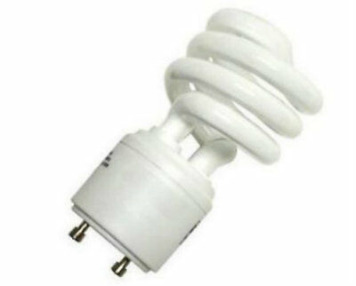 New 13W CFL Mini Spiral GU24 Base 4100K Cool White =60W Fluorescent Light