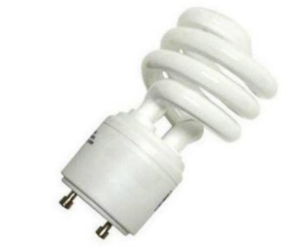 New 13W CFL Mini Spiral GU24 Base 4100K Cool White =60W Fluorescent Light Bulb