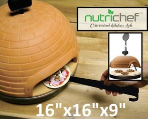 NEW NUTRICHEF ARTISAN ELECTRIC PIZZA OVEN WITH BRICK HOUSING