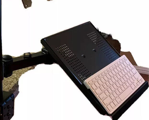 Heavy Duty Articulated Arm & Laptop  / Keyboard Tray: Convert To Standup Option