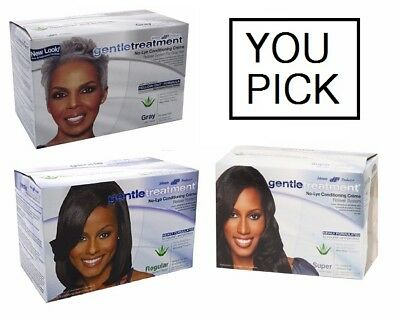 Gentle Treatment No Lye Conditioning Creme Relaxer(Regular,Super,Gray)YOU PICK!
