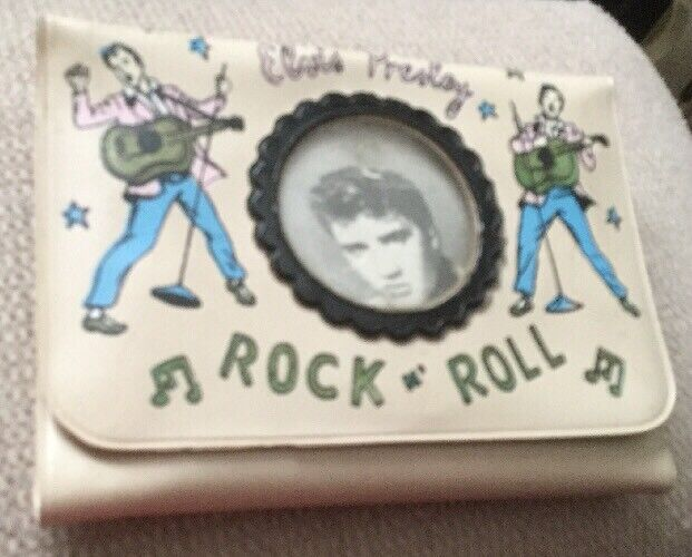 Elvis Presley 1956 Tan Wallet EPE - With 2 Singing Elvis, With Photo In Center