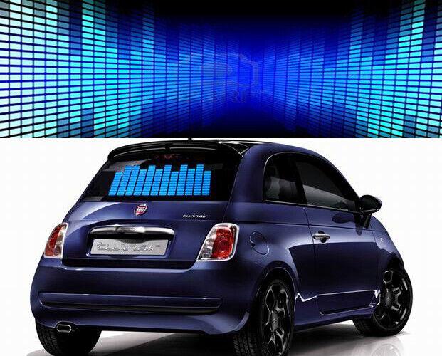 Details about Sound Music Activated Car Sticker DC 12V Equalizer Glow Flash  Light EL Panel LED