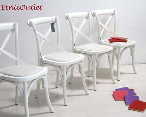 offerta set 6 sedie legno bianco shabby chic sedie