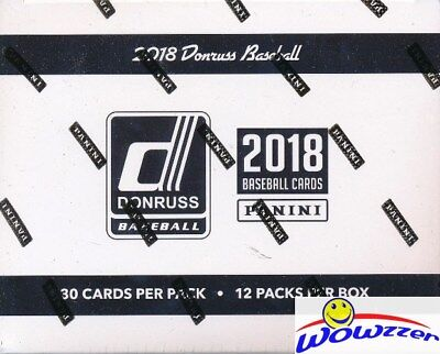 2018 Donruss Baseball Factory Sealed JUMBO FAT Pack Box-360 Card-2 AUTOGRAPH/MEM