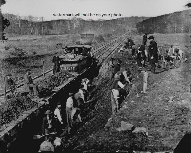 "Working on Orange and Alexandria Railroad 8""x 10"" Civil War Photo Picture #148"