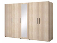 **Special Offer**Brand New Top Quality Stylish Alexandar 5 doors wardrobe in 4 colors