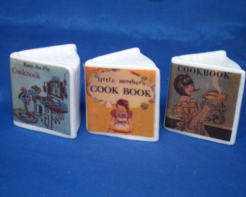 Birchcroft Thimbles -- Miniature Book Style  -- Set of Three Cookery Books