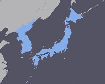 Japan & Korea GPS Map 2018 for Garmin Devices