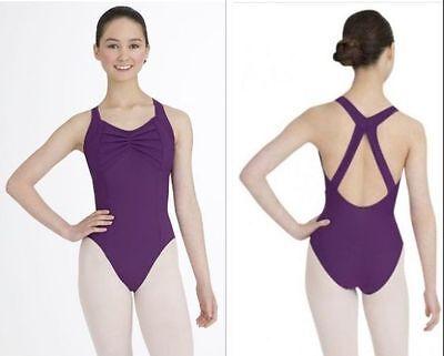 NEW Capezio Leotard Size L Large Adult Dance Gymnastics Ballet Costume Purple LA