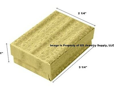 Wholesale 1000 Gold Cotton Fill Jewelry Packaging Gift Boxes 3 14 X 2 14 X 1