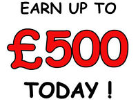 Earn £200-£500 Quick Cash Today – Work From Home – 1 Day Only