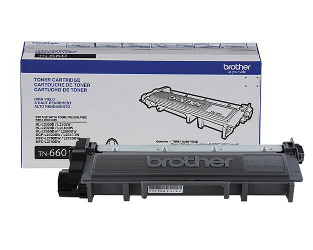 Brother TN-660  Black Toner GENUINE NEW