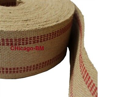 72 yd RED Stripe line JUTE WEBBING HEAVY WEIGHT ( Wholesale UPHOLSTERY Supplies)