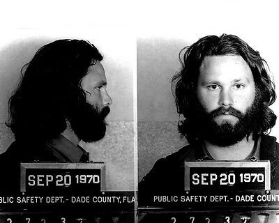 1970 JIM MORRISON Mugshot Glossy 8x10 Photo The Doors Singer Print Poster