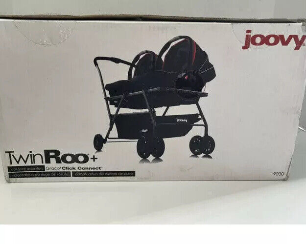 Joovy Twin Roo+ Graco Click Connect Car Seat Adapter 9030 NEW OPEN BOX