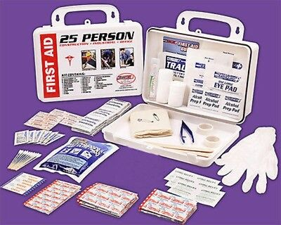 25 Person Wall Mount Safety Safe Emergency FirstAid Kit Mounted First Aid Set