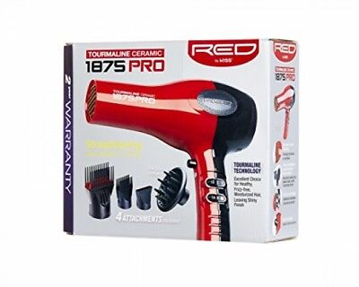 Red 1875 Pro Tourmaline Ceramic Blow Dryer with Pik Attachme