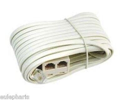 Cable Alargador de Telefono 10m, Ladron 2 Tomas 1 Macho a 2...