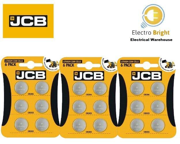 JCB CR2032 CR2025 CR2016 Battery 3V LITHIUM Coin Cell 2032 2025 2016 Batteries