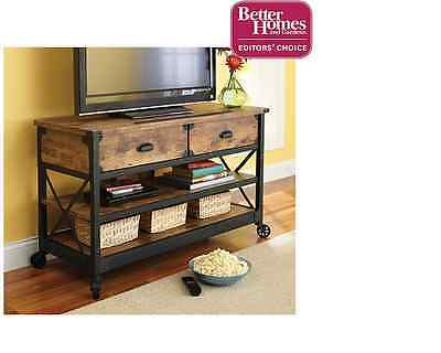 TV Stand Rustic Table Console Media Cabinet ...