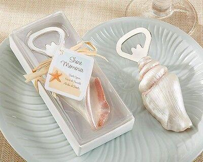 50 Seashell Bottle Opener Sand Summer Beach Theme Wedding Favors in Gift - Cheap Wedding Favors In Bulk