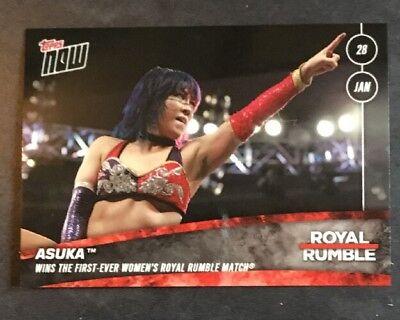 2018 Topps Now WWE Royal Rumble Winner Asuka #6  Print Run 145 ~ Rare