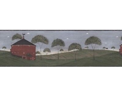 Warren Kimble Country Wallpaper Border AP75682 Round Barn Norwall 3A New