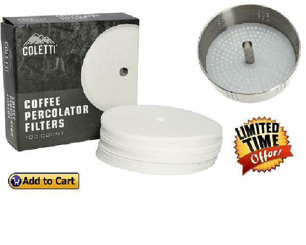 """Pack Of 100 3.5"""" Premium Disc Coffee Filters For Bozeman and"""