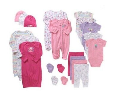 21 Piece Shower Gift For Girls Lot Cheap Baby Clothing Newborn Clothes 3-6 Month