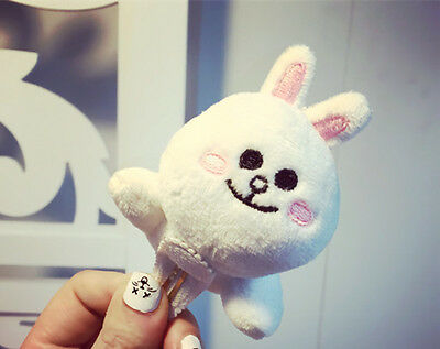 Naver Line App Characters Brown Cony Couple Plush Doll Greeting Hair Clip Cute