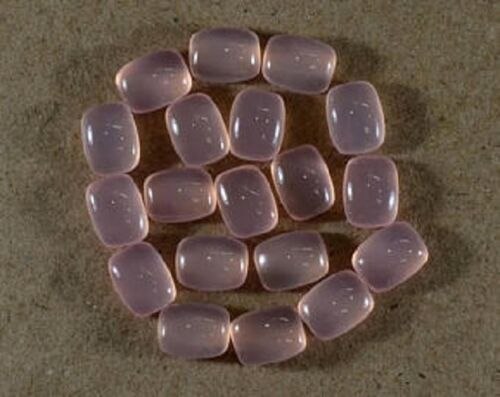 NATURAL ROSE QUARTZ CABOCHON CUSHION CALIBRATED LOOSE QUARTZ GEMSTONE