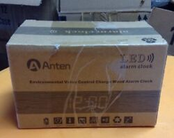 Anten Creative LED Digital Wood Alarm Clock Voice Sound Control USB/AAA Time