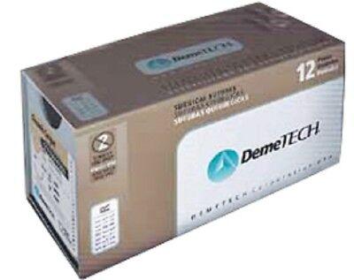 Demetech Surgical Sutures Chromic Catgut Reverse Cutting 12pcbox