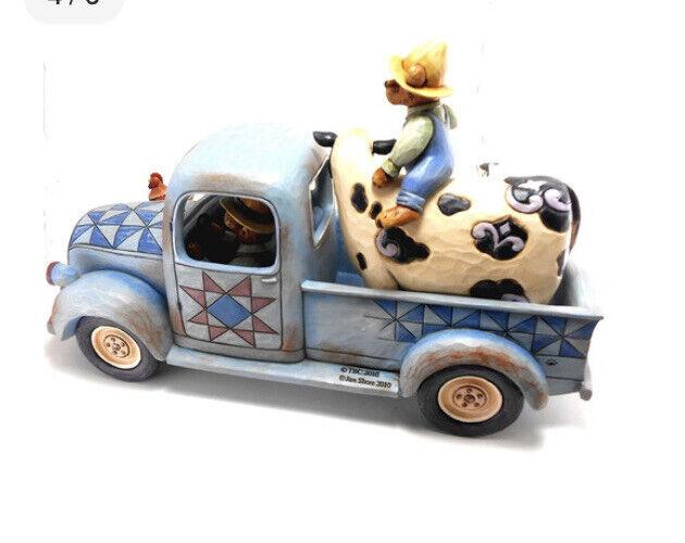 RARE 09 JIM SHORE BOYDS BEARS FARMINGTON FAMILY Joy Ride Limited ED  RETIRED NIB