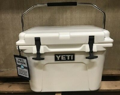 Genuine  Yeti 20 Quart Roadie Cooler Ice Chest White  New