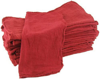 150 Industrial Shop Rags Cleaning Towels Red 14x14 Commercial Janitorial