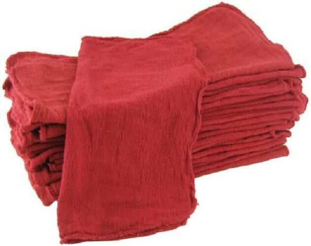 200 industrial shop cleanup rags / towels red 14