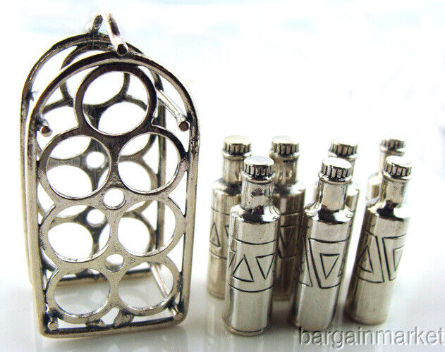 925. Sterling Silver Miniature Wine Rack & Bottles #500