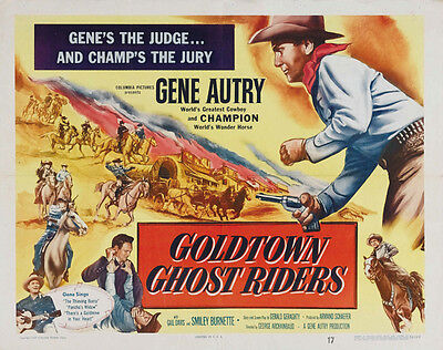 Goldtown Ghost Riders (1953) Gene Autry Western Cult Movie Poster 24x30 Inches