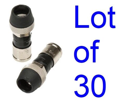 Lot 30 Ppc Rg6 Ex6wsplus Coax Connecter Ends Belden Cable Fittings Weather Boots