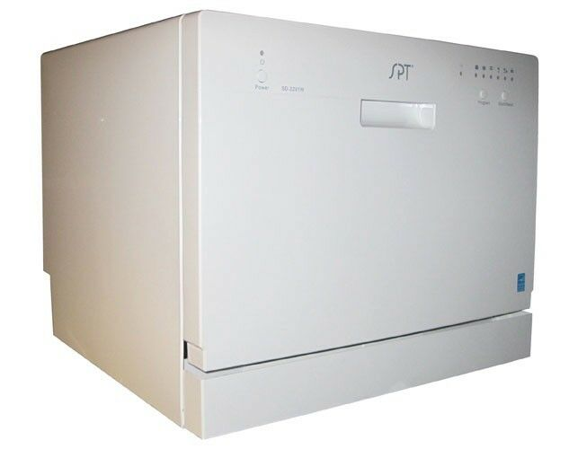 "SPT 22"" Tabletop Portable Dishwasher White SD-2201W"