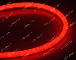 red flexible tube brake light strip drl led tail light flexi new. Black Bedroom Furniture Sets. Home Design Ideas