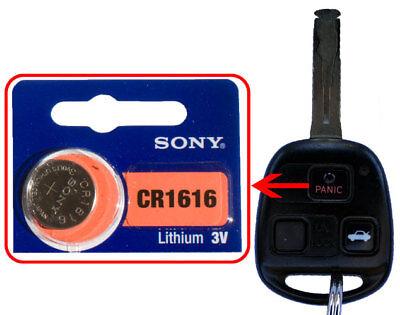 Lexus 1999, 2000–2009 ES GS GX IS LS LX SC RX Battery Sony CR1616 for Remote Key