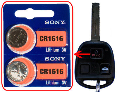 Lexus 2001 etc ES GS GX IS LS LX SC RX Battery 2 pack Sony CR1616 for Remote Key
