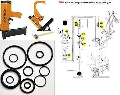 Tool Repair Kit For Miii Miiifn Miiifs Bostitch Hardwood Floor Nailer O-ring ...