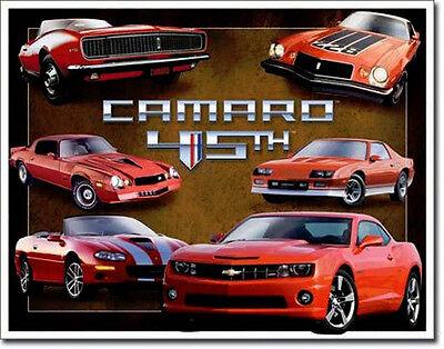 * 70er US-Car Auto Camaro Musclecar Bild Chevrolet Automotiv Schild Poster *267