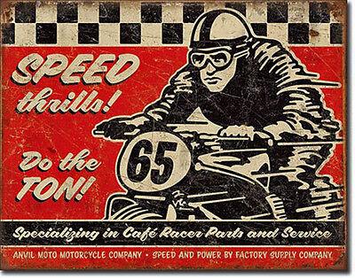 Oldtimer Motorrad Blechschild 50s Werbung Poster Garage Deko Werkstatt *194